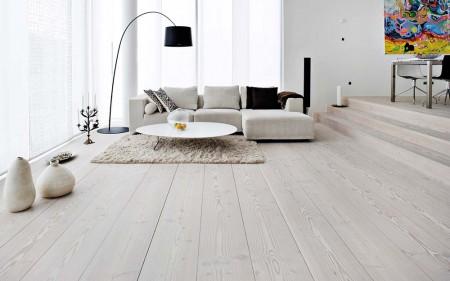 серый ламинат в интерьере в стиле минимализм