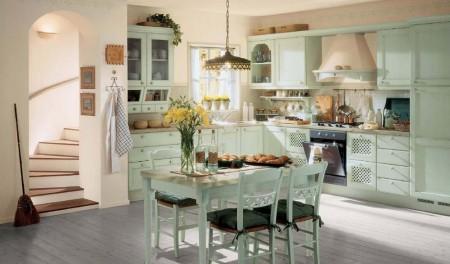 серый ламинат в интерьере в стиле прованс
